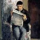 The Artist's Father, Reading  L'Evenement, 1866 - A3 Poster