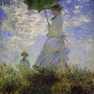 Woman with a parasol - Poster (24x32IN)
