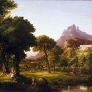 Thomas Cole - Dream of Arcadia - A3 Paper Print