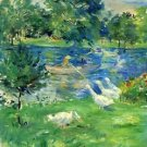 View of Bois de Boulogne by Morisot - 30x40 IN Canvas