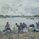 Laundry on the Bank of the Tauques - A3 Poster