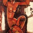 Modigliani - Caryatid [5] - 24x32 IN Canvas
