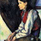 Boy with Red Vest by Cezanne - 30x40 IN Canvas