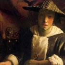 Girl with a flute by Vermeer - 30x40 IN Canvas
