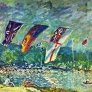 Regatta in Molesly Sisley - A3 Poster