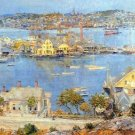 The port of Gloucester [1] by Hassam - 30x40 IN Canvas