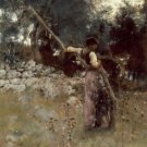 Sargent - A Capriote - 24x18IN Canvas Painting
