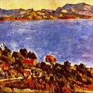 Gulf of Marseille by Cezanne - 30x40 IN Canvas