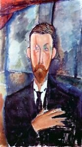 Modigliani - Portrait of Paul Alexanders - 30x40 IN Canvas