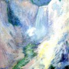 Waterfall in Yellowstone, 1895 - A3 Poster