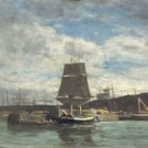 Port in Normandy, 1858-62 - A3 Poster