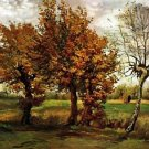 Autumn Landscape with Four Trees - 30x40 IN Canvas