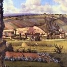 Landscape with Farm Houses by Pissarro - 30x40 IN Canvas
