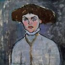Modigliani - Head of a young woman - 30x40 IN Canvas