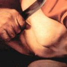 The sacrifice of Isaac's detail by Caravaggio - 24x18 IN Canvas