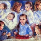 Images of children's character heads by Renoir - 24x32 IN Canvas