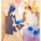 Tea in the afternoon by Cassatt - A3 Poster