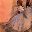 Sitting dancer with extended left leg by Degas - A3 Poster
