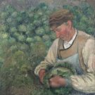 The Gardener, Old Peasant with Cabbage, 1883-89 - A3 Poster