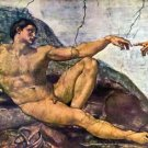 Creation of Adam detail by Michelangelo - A3 Poster