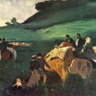 Riders in the  landscape by Degas - A3 Poster