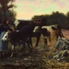 Landscape with Cattle, 1910 - 24x18 IN Poster