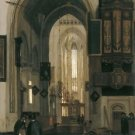 Interior of a Gothic Church. 1669 - A3 Poster