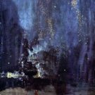 Night in Black and Gold, The falling Rocket by Whistler - 24x18 IN Canvas