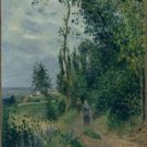 The Hill of Grouettes, near Pontoise, 1878 - 30x40 IN Canvas