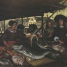 The New Fishmarket in Amsterdam. 1655 - 24x18 IN Poster