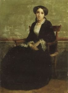 A Portrait of Genevieve Bouguereau 1850 - 24x32 IN Canvas