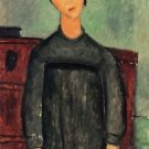 Modigliani - Girl with a black robe - 24x18 IN Poster