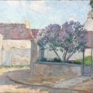 Village Street in Anjou, 1900 - A3 Poster