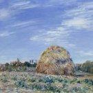 Haystacks in Moret in October, 1890 - A3 Poster