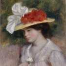 Woman in a Flowered Hat, 1889 - A3 Poster