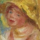 Young Woman in Yellow Hat - A3 Poster