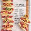 Vinteja charts of - Hotdog Toppings - A3 Paper Print