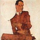 Portrait of Arthur Rossler by Schiele - 24x18 IN Canvas