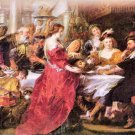 The festival of Herod by Rubens - 24x18 IN Canvas