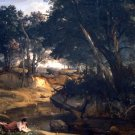 Forest of Fontainebleau by Corot - 24x18 IN Canvas