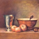 The silver cup by Jean Chardin - 24x18 IN Canvas