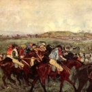 Men's riders before the start by Degas - A3 Poster