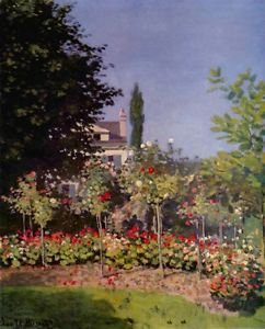 Garden at Sainte-Adresse by Monet - A3 Poster