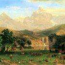 Rocky Montains at Lander's Peak by Bierstadt - 30x40 IN Canvas