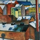 St. Mary's Church in the snow by August Macke - A3 Poster