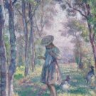 Girl and Goats in the Forest of Pierrefonds, 1907 - A3 Poster