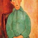 Modigliani - Boy in a blue jacket [2] - 24x18 IN Canvas