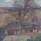Farm and Trees at Saint-Cheron, 1893 - 24x32 IN Canvas