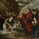 Simon de Vos - The Raising of Lazarus - 30x40IN Paper Print