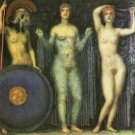 The three Goddesses Athena, Hera and Aphrodite by Franz von Stuck - A3 Poster